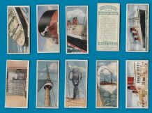 TRADE cards passenger cruise ship Queen Mary R.M.S set 1936